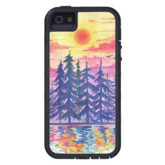 Capa Para iPhone 5 Floresta e lago no crepúsculo, iPhone5/5s