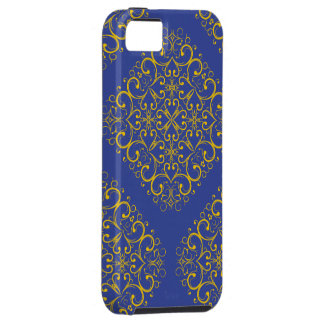 Capa Para iPhone 5 impressão azul do ornamento floral iphone5 do