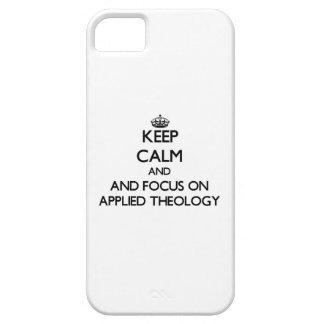 Capa Para iPhone 5 Mantenha a calma e o foco em teologia aplicada