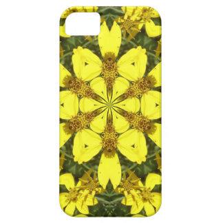 Capa Para iPhone 5 margaridas abstratas florais amarelas do design