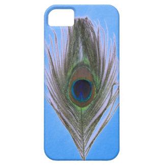 Capa Para iPhone 5 Pena do pavão do Lilac no azul