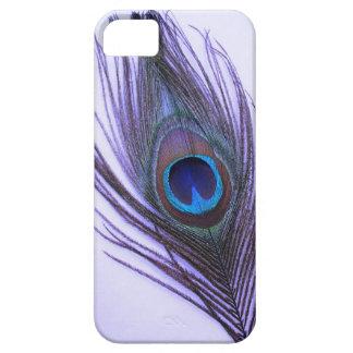 Capa Para iPhone 5 Pena roxa do pavão