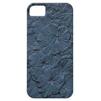 Capa Para iPhone 5 Petúnias Sculpted, caixa das Azul-Cinzas-iPhone