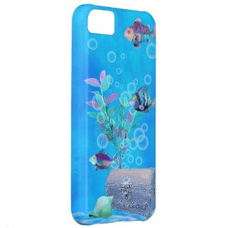 Capa Para iPhone 5C Arca do tesouro & peixes bonito no oceano