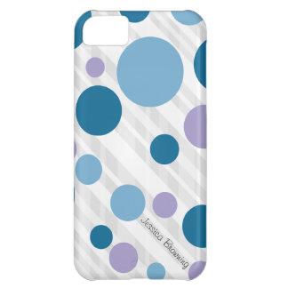 Capa Para iPhone 5C Bolinhas roxas e azuis: iPhone 5
