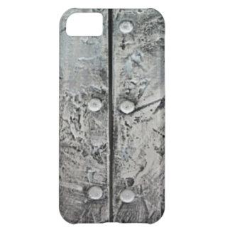 Capa Para iPhone 5C Caixa de aço Textured cinzas do iPhone 5 do teste
