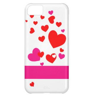 Capa Para iPhone 5C Caixa dos corações iPhone5