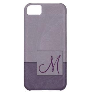 Capa Para iPhone 5C Caixa roxa do monograma iPhone5 do Acanthus do