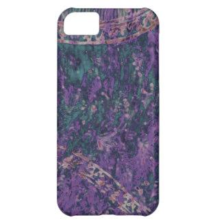 Capa Para iPhone 5C Caixa roxa e esmeralda do Batik iPhone5