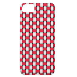 Capa Para iPhone 5C Caixa vermelha e branca do ponto