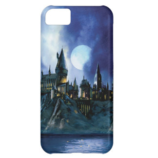 Capa Para iPhone 5C Castelo | Hogwarts de Harry Potter na noite