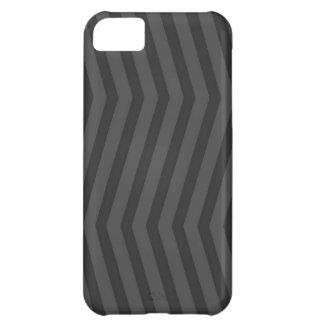 Capa Para iPhone 5C Cinzas no cobrir preto do iPhone 5 do teste padrão