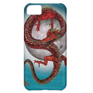 Capa Para iPhone 5C Dragão vermelho oriental da fantasia