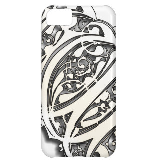 Capa Para iPhone 5C Elegância de prata - caso do iPhone 5