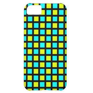 Capa Para iPhone 5C Fluo verde e o azul esquadram o cobrir iPhone5