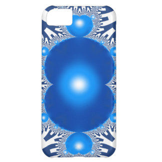 Capa Para iPhone 5C Fractal azul