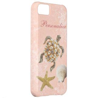 Capa Para iPhone 5C Impressão da jóia da tartaruga de mar, estrela do