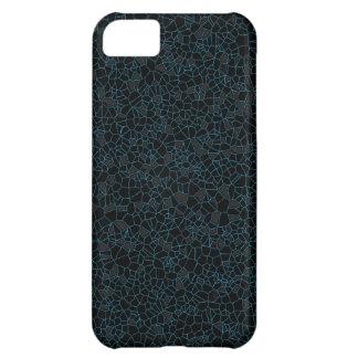 Capa Para iPhone 5C Linhas azuis do fundo preto