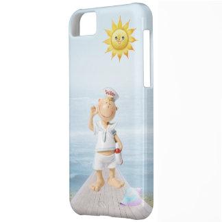 Capa Para iPhone 5C Marinheiro feliz bonito no passeio à beira mar