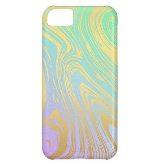 Capa Para iPhone 5C Mármore, ouro, lavanda, verde, rosa, redemoinho,