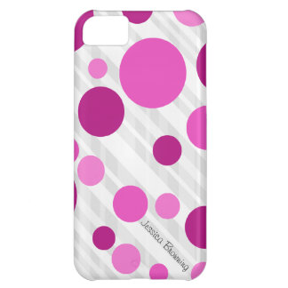 Capa Para iPhone 5C Máscaras de bolinhas cor-de-rosa: iPhone 5