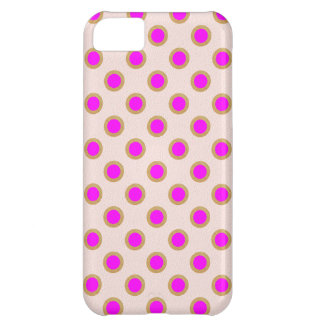 Capa Para iPhone 5C Matriz de ponto cor-de-rosa EXÓTICA: Jóia do teste
