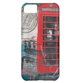 Capa Para iPhone 5C o passaporte carimba a cabine de telefone vermelha