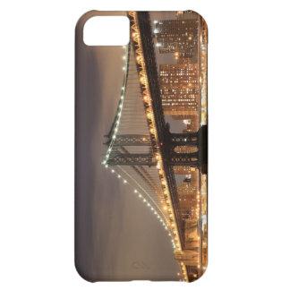 Capa Para iPhone 5C Ponte de Brooklyn e a estátua da liberdade na