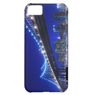 Capa Para iPhone 5C Ponte e skyline de Manhattan na noite