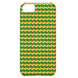 Capa Para iPhone 5C Pontos de Rasta no branco