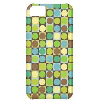Capa Para iPhone 5C Pontos retros e quadrados