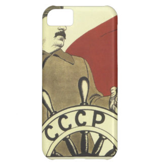 Capa Para iPhone 5C Poster comunista da propaganda do vintage do russo