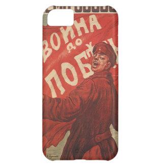 Capa Para iPhone 5C Poster da propaganda do vintage do russo