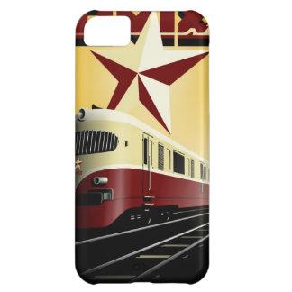 Capa Para iPhone 5C Poster Railway comunista do vintage do russo