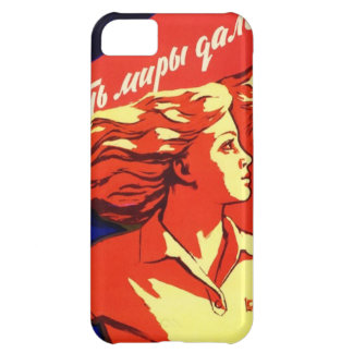 Capa Para iPhone 5C Propaganda comunista do espaço do vintage do russo