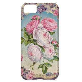 Capa Para iPhone 5C Rosas do Victorian dos namorados