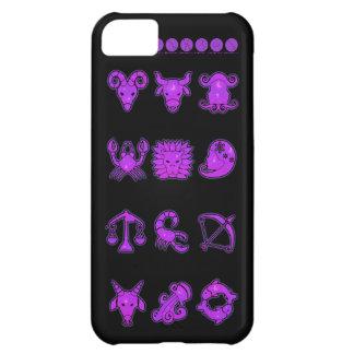 Capa Para iPhone 5C Sinais roxos do exemplo do iPhone 5 do zodíaco