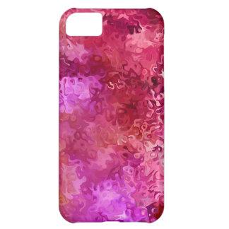 Capa Para iPhone 5C Teste padrão abstrato quente rosa vermelha e da