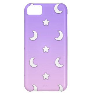 Capa Para iPhone 5C Teste padrão branco pequeno das estrelas e das