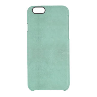 Capa Para iPhone 6/6S Transparente Abstrato retro do verde da cerceta do Grunge do