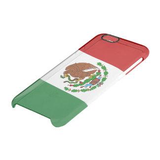 Capa Para iPhone 6/6S Transparente Bandeira lustrosa mexicana
