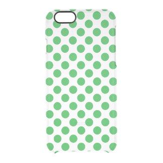 Capa Para iPhone 6/6S Transparente Bolinhas verdes