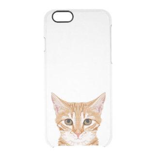 Capa Para iPhone 6/6S Transparente Caixa alaranjada do espaço livre do iphone do gato