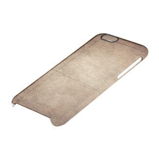 Capa Para iPhone 6/6S Transparente Couro velho
