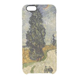 Capa Para iPhone 6/6S Transparente Estrada com ciprestes, 1890 de Vincent van Gogh |