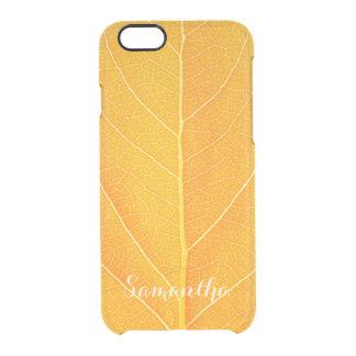Capa Para iPhone 6/6S Transparente Folha do ouro do falso
