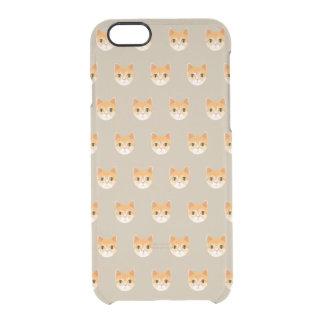 Capa Para iPhone 6/6S Transparente Ilustração bonito do gato de gato malhado