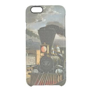 Capa Para iPhone 6/6S Transparente Os trens expressos do relâmpago, 1863