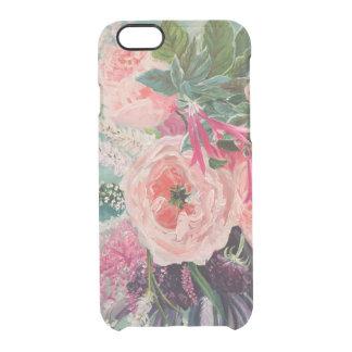 Capa Para iPhone 6/6S Transparente Pop da flor