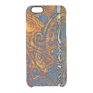 Capa Para iPhone 6/6S Transparente Redemoinho azul de Jean de três tons